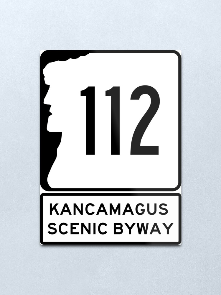 Alternate view of NH 112 -  Kancamagus Scenic Byway - New Hampshire Leaf Peeper Metal Print