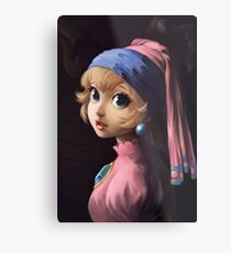 Princess With a Pearl Earring Metal Print