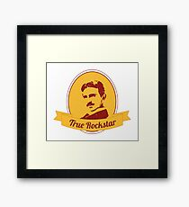 Nikola Tesla - Inventor - True Rockstar Framed Print
