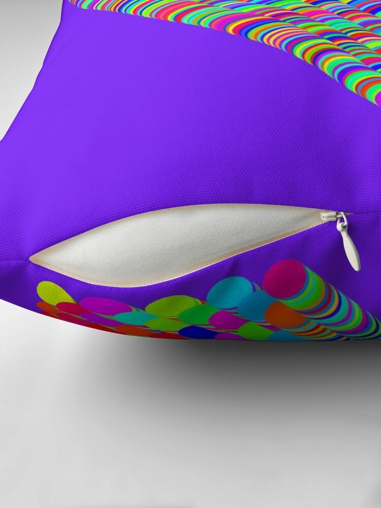 Alternate view of Random colors Throw Pillow