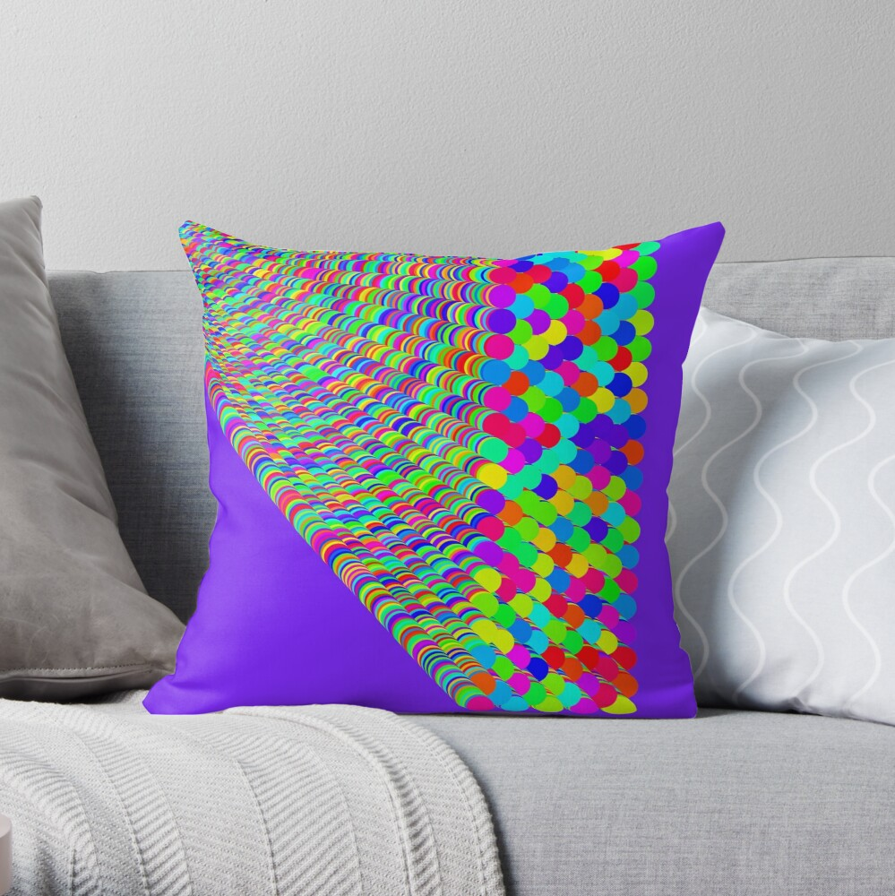Random colors Throw Pillow