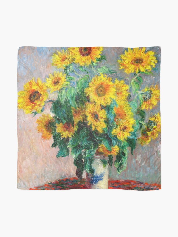 Alternate view of Bouquet of Sunflowers Scarf