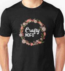 Crafty Mofo With Flower Graphic Ring T-Shirt