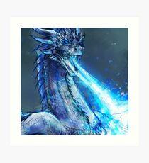 Ice dragon Art Print