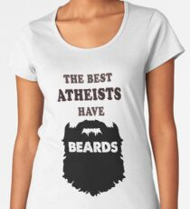 Atheist with beards, Atheism bearded gift costume t shirts Women's Premium T-Shirt