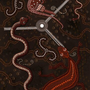 3 Billabongs - Aboriginal Styled Art by RavenPrints