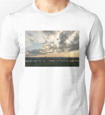 Dramatic Sky Full of Hot Air Balloons T-Shirt