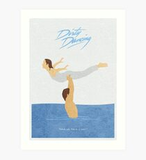 Dirty Dancing Alternative Minimalist Movie Poster Art Print