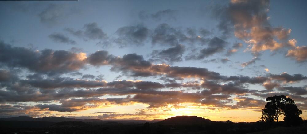 Mt Arrawang Sunset Stitched by Yechiam Marx