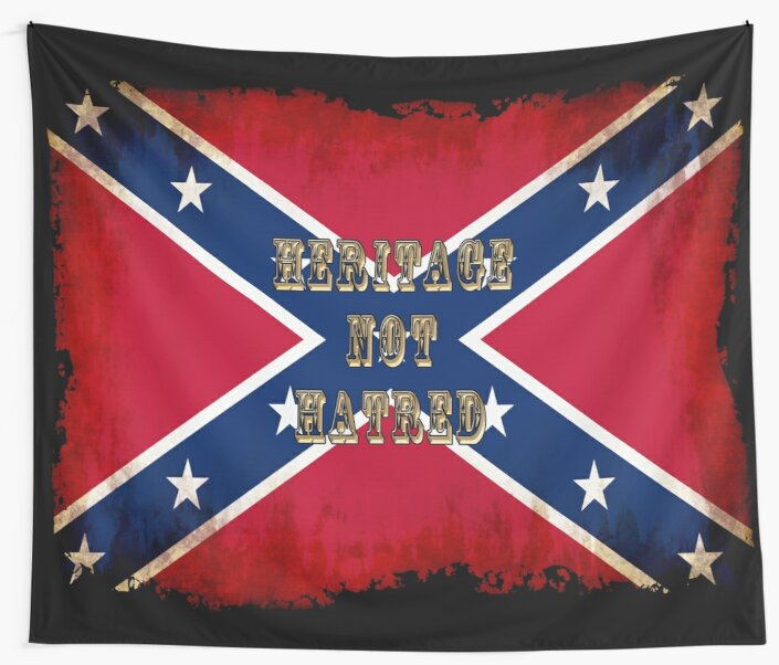 Heritage, Not Hatred - Confederate Flag by Skye Ryan-Evans