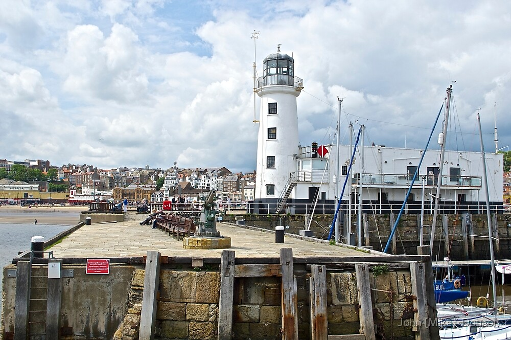 Scarborough Lighthouse by John (Mike)  Dobson