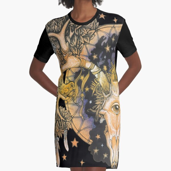 Parallel Universe Graphic T-Shirt Dress