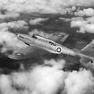 Fairey Battle in flight B&W version by Gary Eason