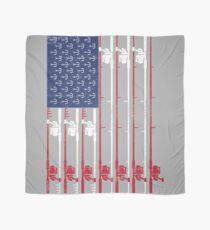 Vintage Flag > US Flag Made of Fishing Rods + Hooks > Fisherman Tuch