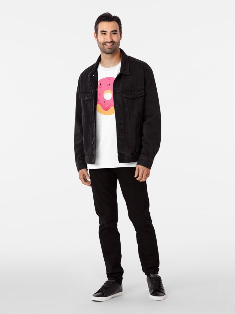Alternative Ansicht von Glücklicher Donut Premium T-Shirt
