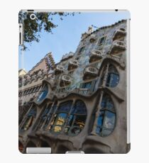 Looking Up to a Masterpiece - Antoni Gaudi's Casa Batllo in Barcelona, Spain iPad Case/Skin