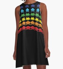 """""""SPACE INVADERS"""" Video Game Lovers Vintage A-Line Dress"""