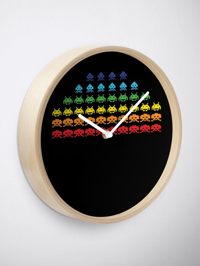 "Alternate view of ""SPACE INVADERS"" Video Game Lovers Vintage Clock"