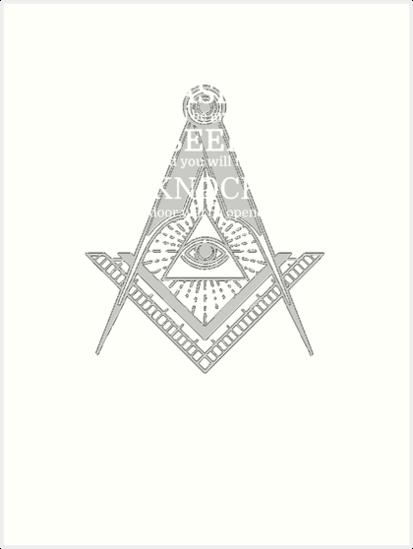 Freemason Illuminati Masonic T Shirt By MYCUPOFT