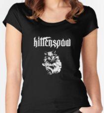 Kittenspaw Metal Parody Print Women's Fitted Scoop T-Shirt
