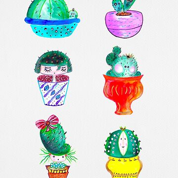 Cute Cacti by Neginmf