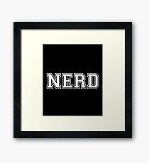 Nerd - Geek Video Games Play Station Xbox PC Gamer  Framed Print