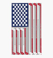 Vintage Flag > US Flag Made of Golf Balls + Clubs > Cool Golf Fotodruck