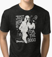 Halloween Just Here For The Boos Funny Halloween Party Tri-blend T-Shirt