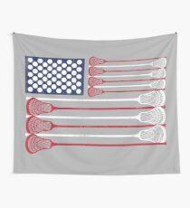 Vintage Flag > US Flag Made of Lacrosse Balls + Bats > Laxing Wandbehang