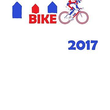 Bike Bergen 2017 commemorative Bicycle Road Race shirt by LaunchMission