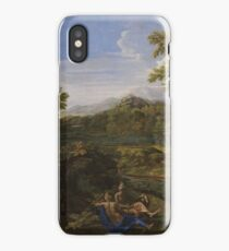 Landscape with Two Nymphs and a Snake 1659 Nicolas Poussin iPhone Case/Skin
