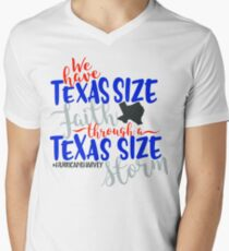 Texas Size Faith - Disaster Relief Efforts Men's V-Neck T-Shirt
