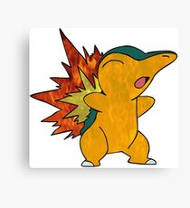 Fire Cyndaquil Canvas Print