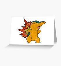 Fire Cyndaquil Greeting Card