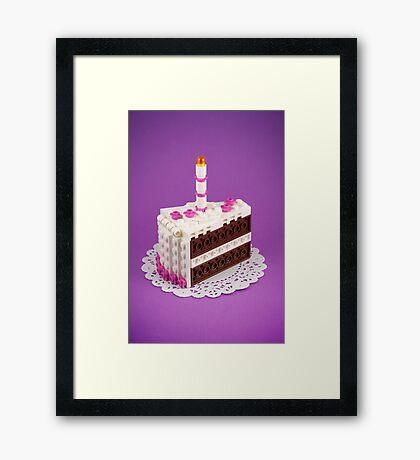 Let Them Build Cake Framed Print
