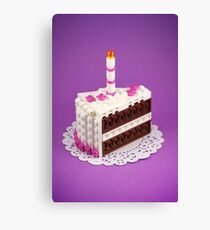 Let Them Build Cake Canvas Print