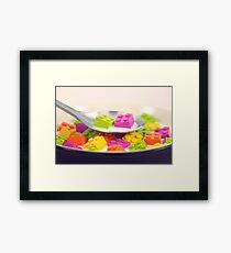 A Balanced Brickfast Framed Print