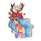 « Deer Girl - La fille aux bois de cerf » par Naineuh