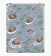 Coracle race - mice in lilies iPad Case/Skin