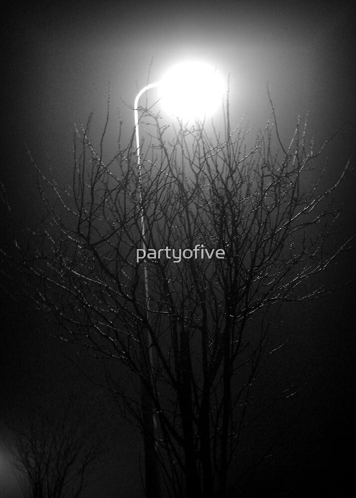 winter by streetlight by partyofive