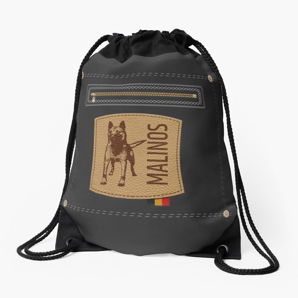 Belgian shepherd - Malinois  Drawstring Bag