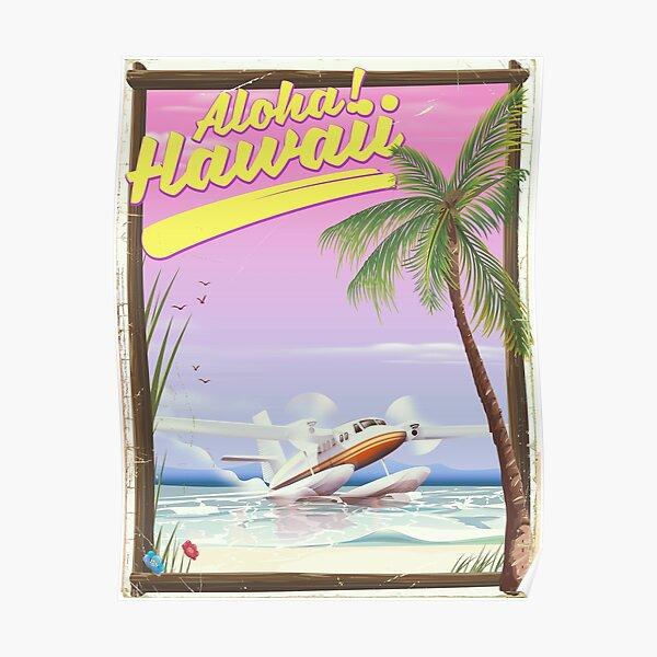 Aloha! Hawaii vintage travel poster. Poster