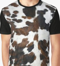 Cowhide Tan, black and white | Texture Graphic T-Shirt