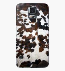 Funda/vinilo para Samsung Galaxy Piel de vaca color canela, blanco y negro | Textura
