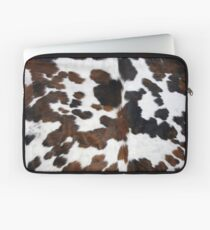 Cowhide Tan, black and white | Texture Laptop Sleeve