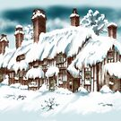 Flaxborough Cottage in Winter by Rasendyll