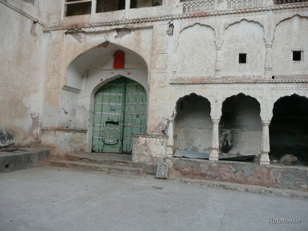 Hanuman Temple Courtyard by Ratatouille