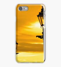 row of vintage lamps at sunset iPhone Case/Skin