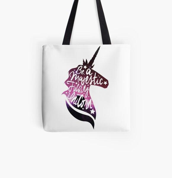 Be Like the Unicorn All Over Print Tote Bag