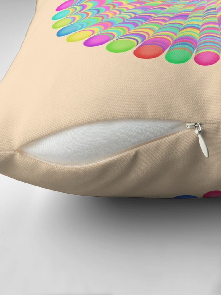Alternate view of Random Color Generation Throw Pillow